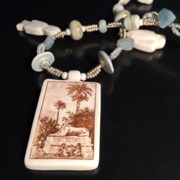 collier porcelaine narrative belisame creation