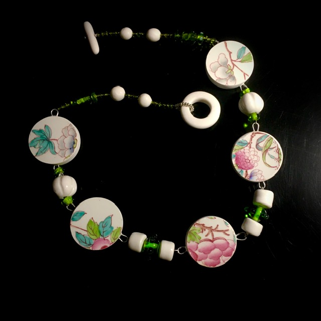 collier verre et porcelaine belisame creations