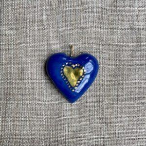 coeur bleu en porcelaine belisame creations 11