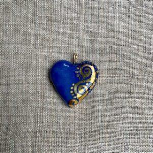 coeur porcelaine bleu belisame creations