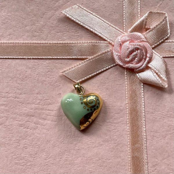 petit cœur porcelaine celadon belisame creations
